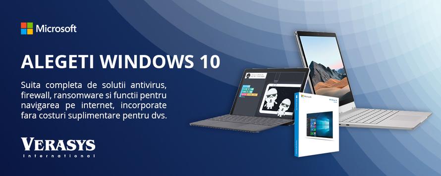 Alegeti Windows 10 pentru cea mai buna securitate
